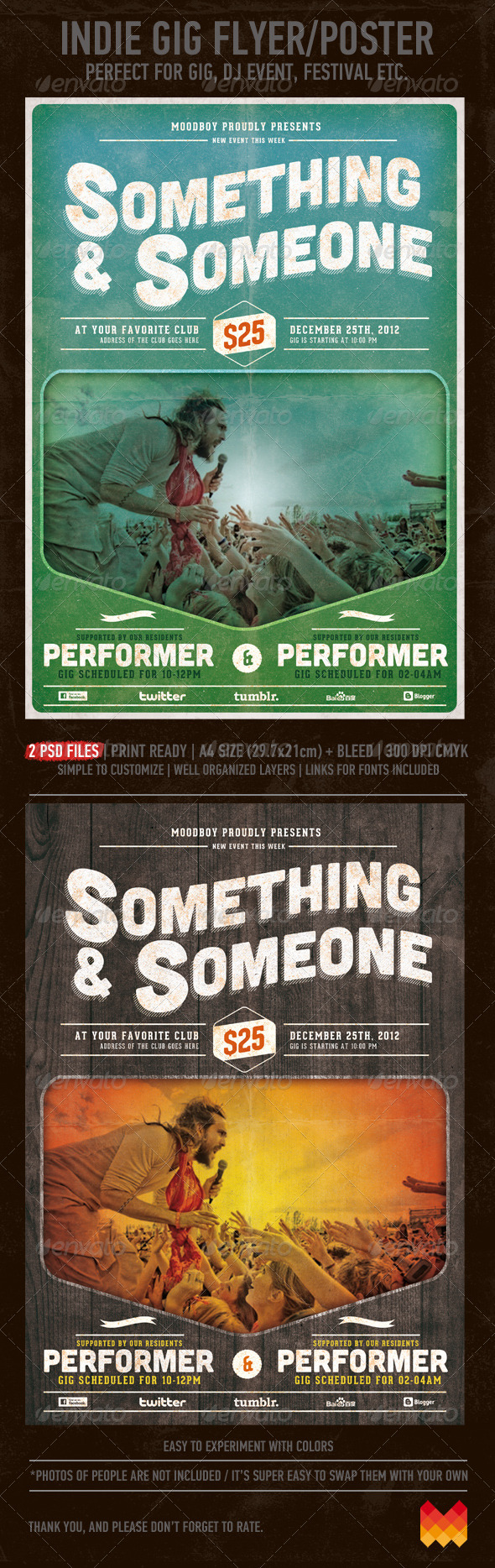 GraphicRiver Indie Gig Flyer Poster 3664051