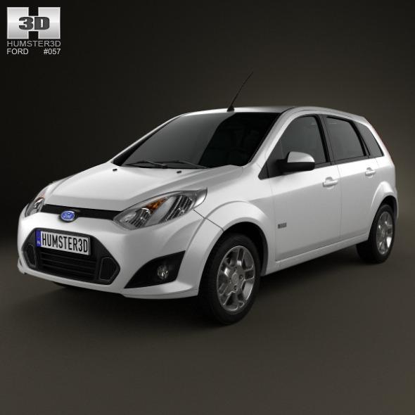 3DOcean Ford Fiesta Rocam hatchback Brazil 2012 3664091