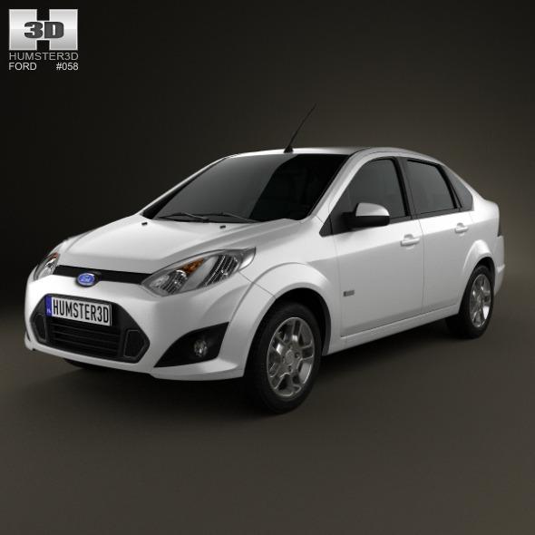 3DOcean Ford Fiesta Rocam sedan Brazil 2012 3664100
