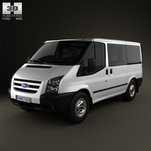 3DOcean Ford Transit Tourneo SWB Low Roof 2012 3664123