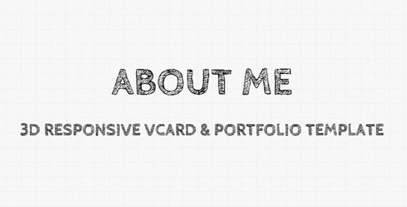 ThemeForest AboutMe 3D Responsive Vcard & Portfolio Template 3632979