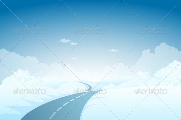 GraphicRiver Blue Winter Landscape 3664366