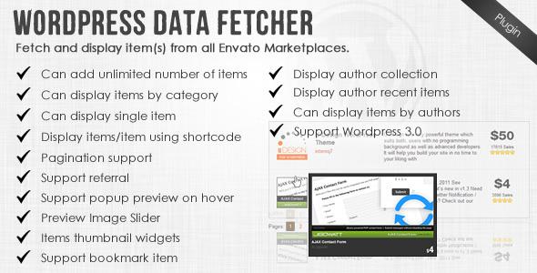 CodeCanyon Wordpress Data Fetcher WP Plugin 2725441