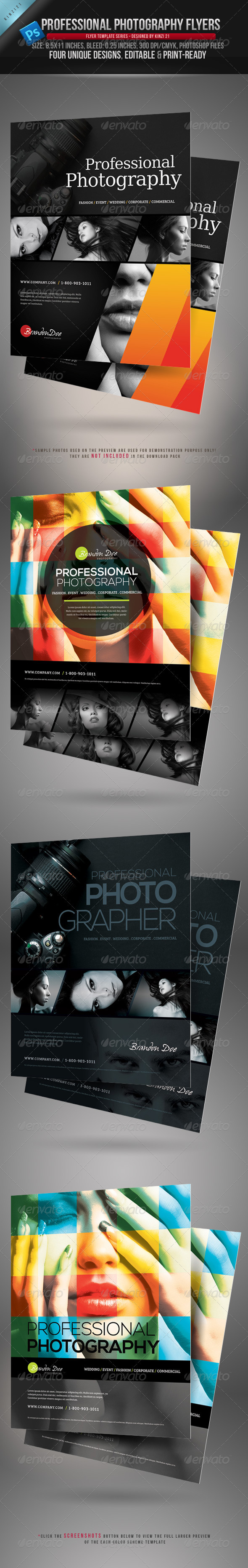 GraphicRiver Professional Photography Flyers 3664516