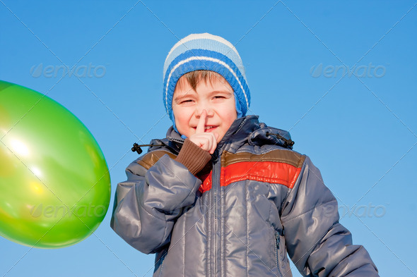 PhotoDune boy with air marbles on nature 3665065