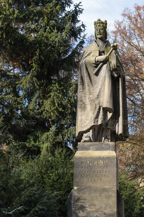PhotoDune Sculpture to king Charles IV Karlovy Vary 3665293