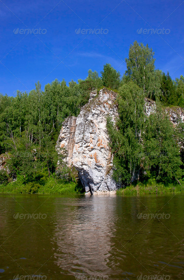 PhotoDune l Ural nature on the river Chusovaya Perm edge 3665274