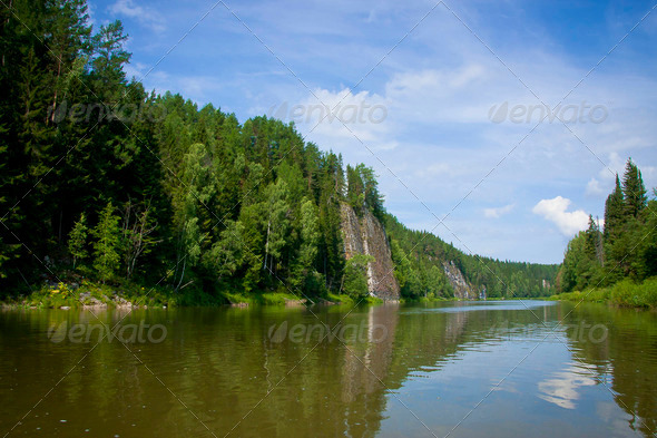 PhotoDune l Ural nature on the river Chusovaya Perm edge 3665276