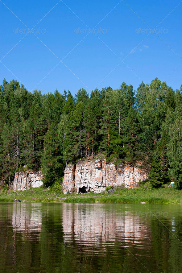 PhotoDune beautiful Ural nature on the river Chusovaya Perm edge 3665317