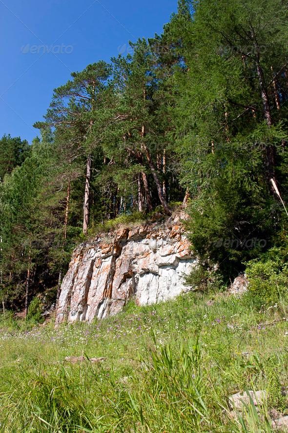 PhotoDune beautiful Ural nature on the river Chusovaya Perm edge 3665322