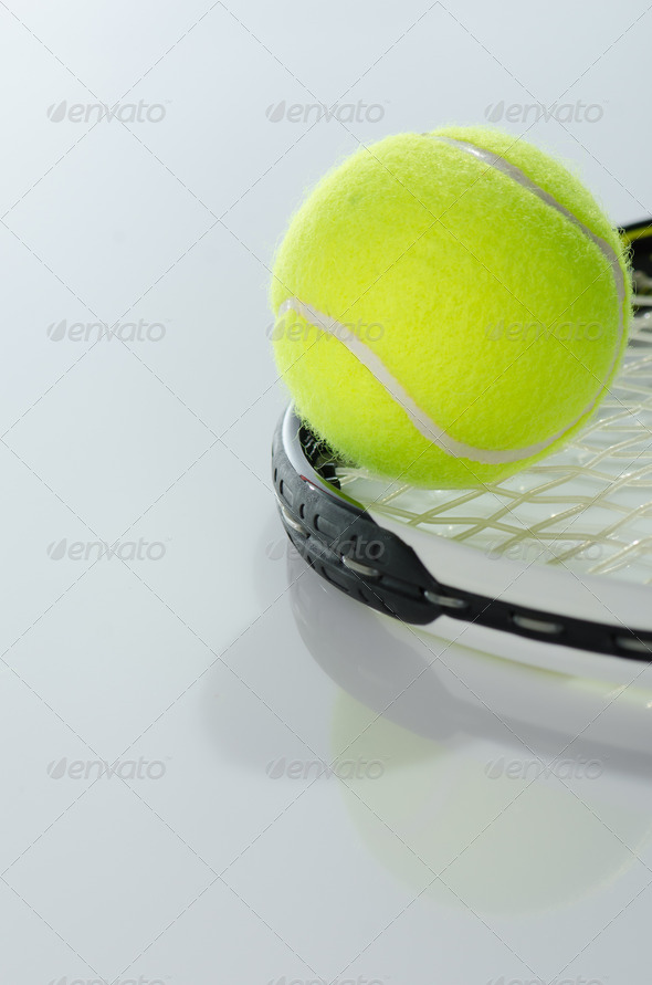PhotoDune Tennis ball and racket 3665343