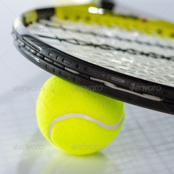 PhotoDune Tennis ball and racket 3665352