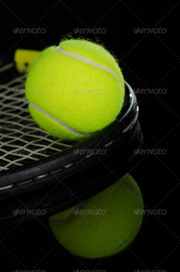 PhotoDune Tennis balls and racket 3665348