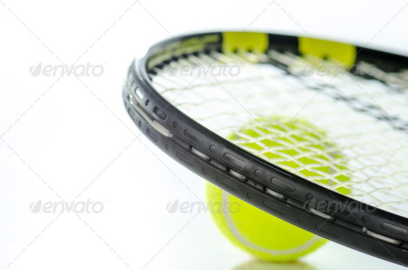 PhotoDune Tennis ball and racket 3665355