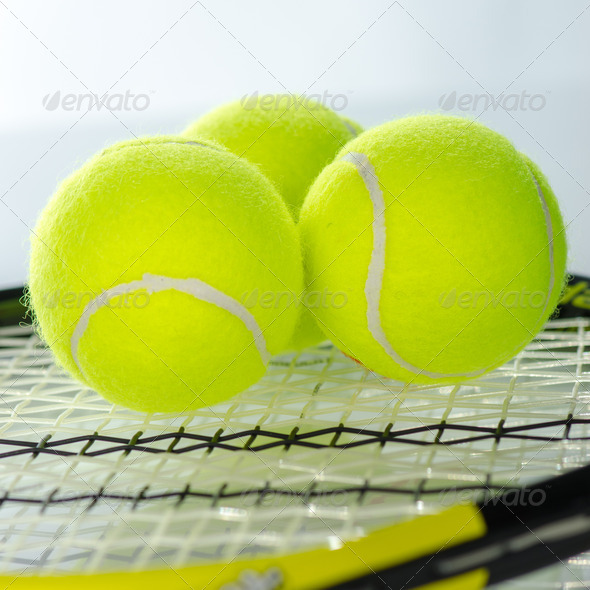 PhotoDune Tennis balls and racket 3665364