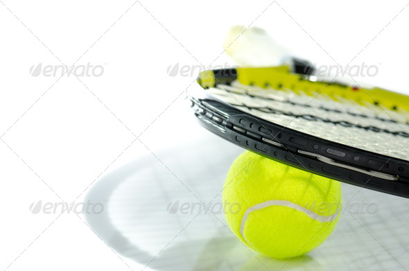 PhotoDune Tennis ball and racket 3665370