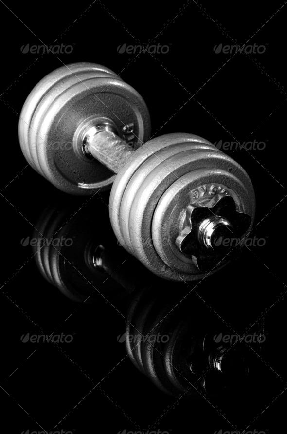 PhotoDune Grey dumbbell 3665398