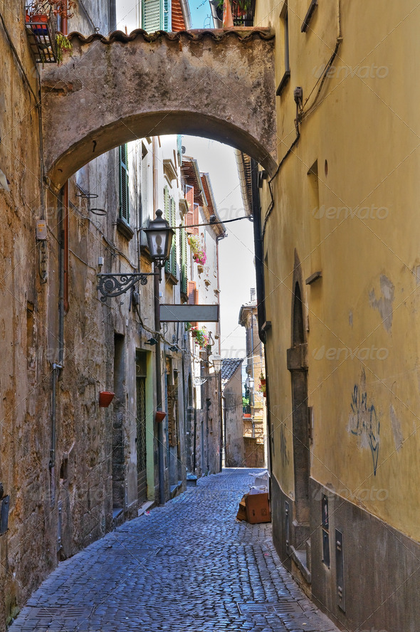 PhotoDune Alleyway Orvieto Umbria Italy 3665487