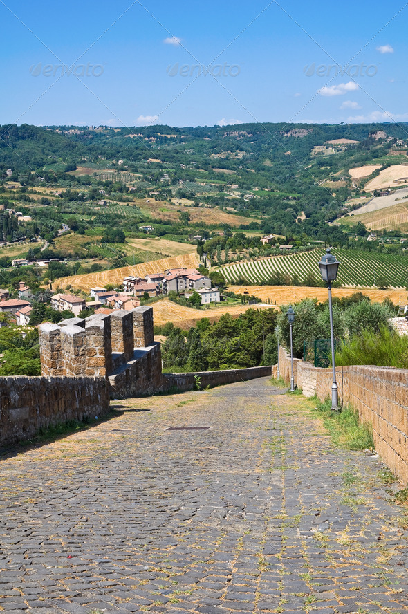 PhotoDune Fortified walls Orvieto Umbria Italy 3665491