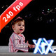 Baby Playing With Bubbles 240fps - VideoHive Item for Sale