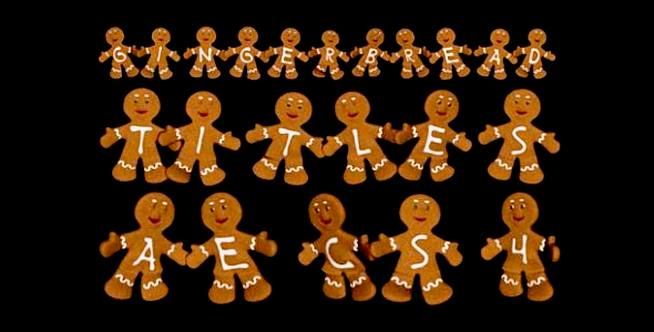VideoHive Gingerbread Titles AE Constructor 3665933