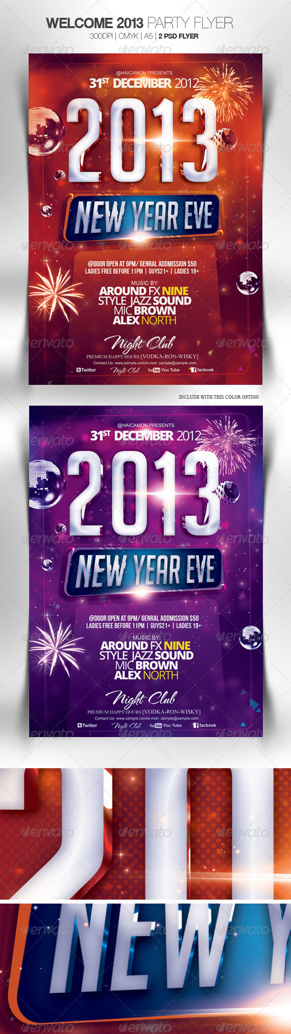 GraphicRiver Welcome 2013 Party Flyer 3602091