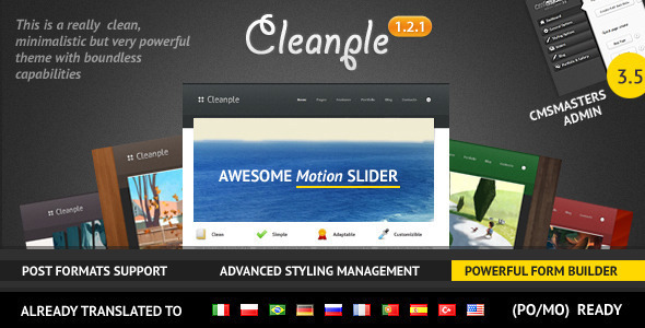 ThemeForest Cleanple a powerful and elegant WordPress theme 784534