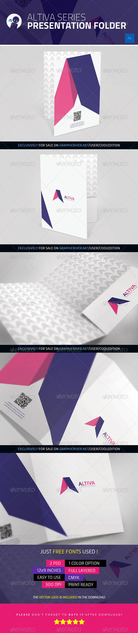 Altiva Series - Presentation Folder - Stationery Print Templates