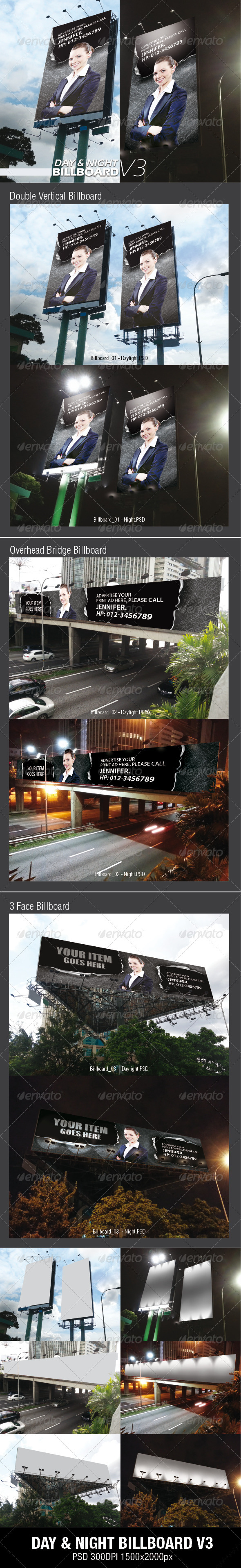 GraphicRiver DAY & NIGHT BILLBOARD V3 3666246