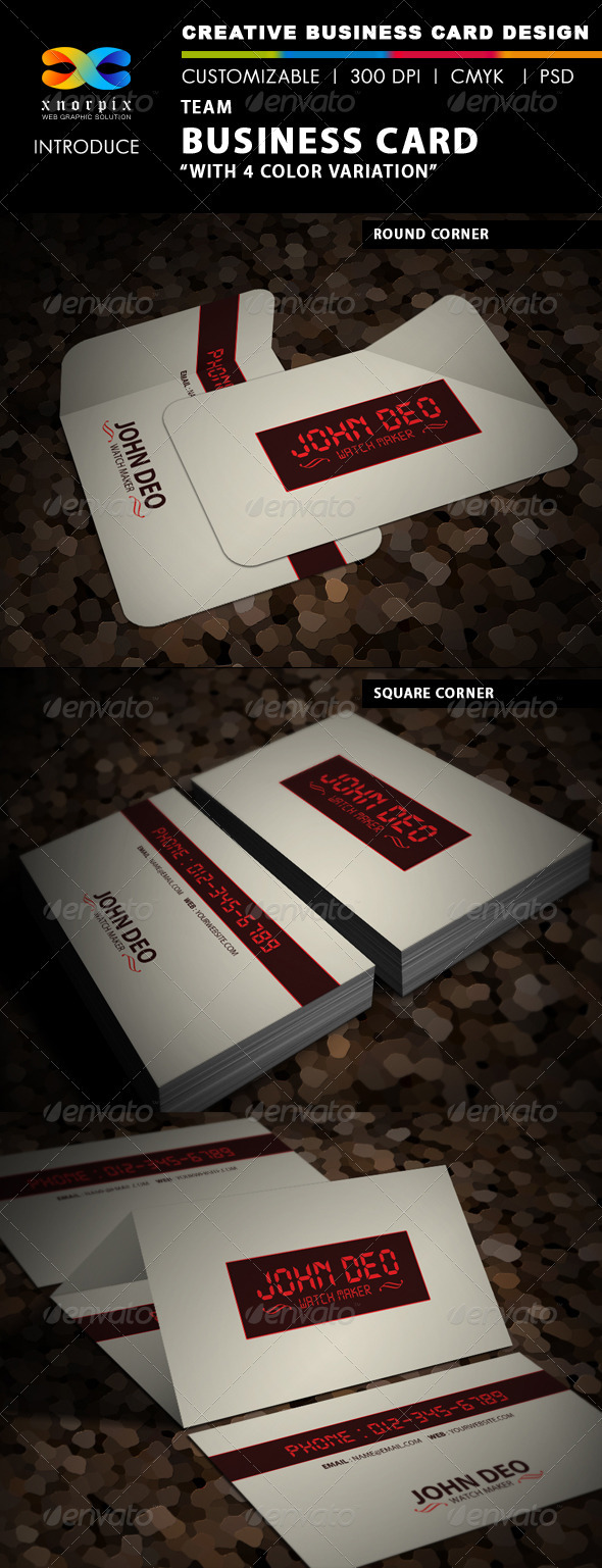 GraphicRiver Time Business Card 3666248