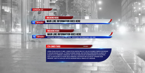 VideoHive Lower Third News 3 3666308