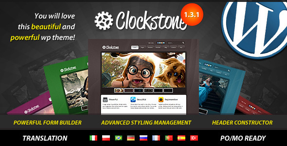 ThemeForest Clockstone Ultimate Wordpress Theme 306607