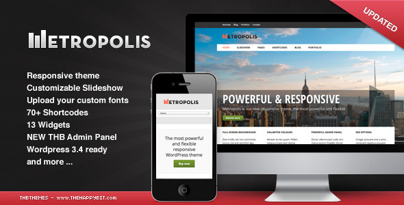 Metropolis - Responsive WordPress theme