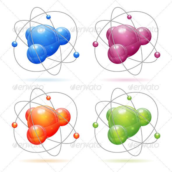 GraphicRiver Set of Atom Models 3666771