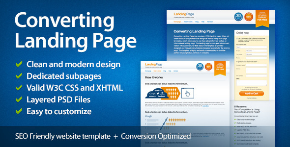 ThemeForest Converting Landing Page 3473546