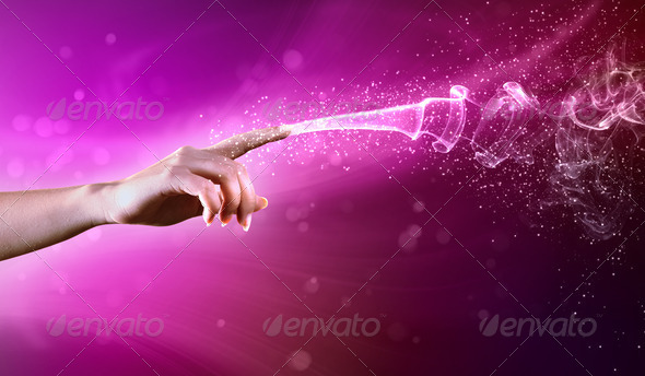 PhotoDune magical hands conceptual image 3667981
