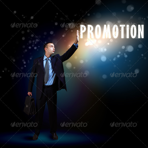 PhotoDune Businessman with light shining 3667988