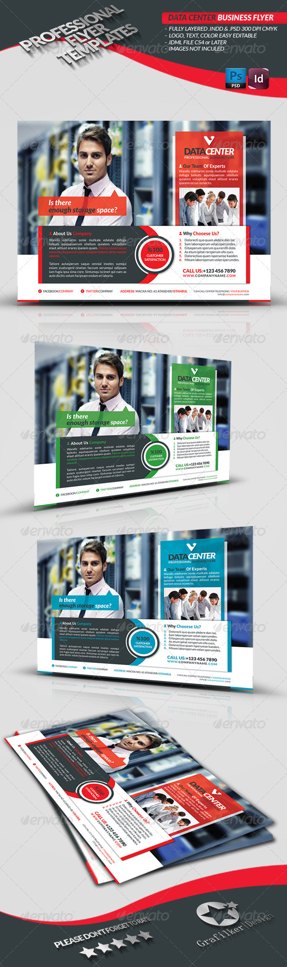 GraphicRiver Data Center Business Flyer 3666904
