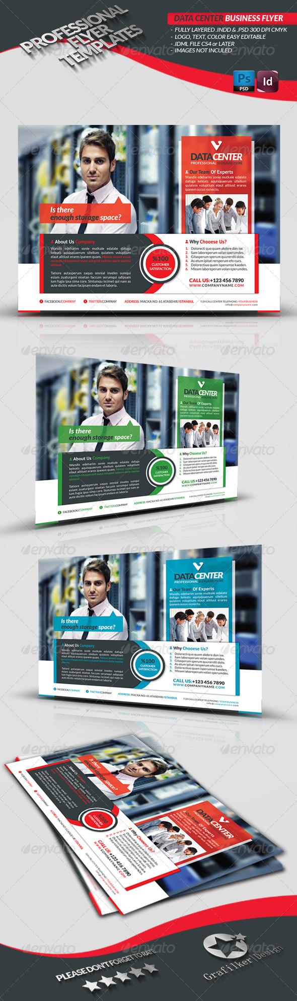 GraphicRiver Data Center Business Flyer 3666904