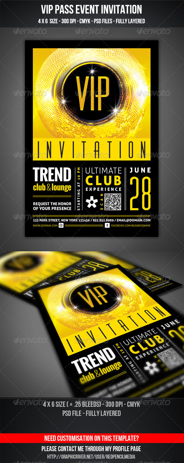 GraphicRiver VIP Club Event Invitation 3666984