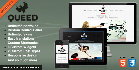 ThemeForest Queed WordPress Theme 2695526
