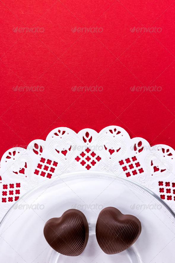 PhotoDune Heart shaped chocolate candy 3667728