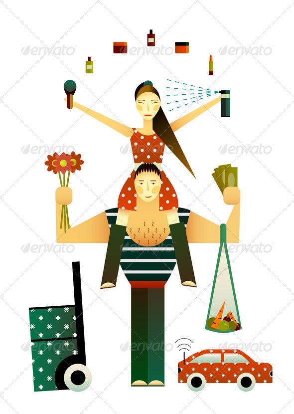 GraphicRiver Happy Couple 3668112