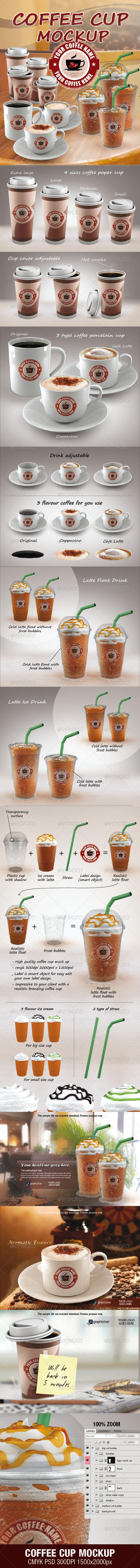GraphicRiver COFFEE CUP MOCKUP 3635183