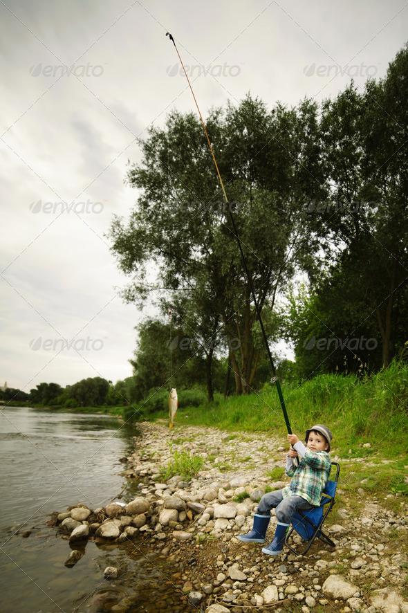 PhotoDune photo of little boy fishing 3669172