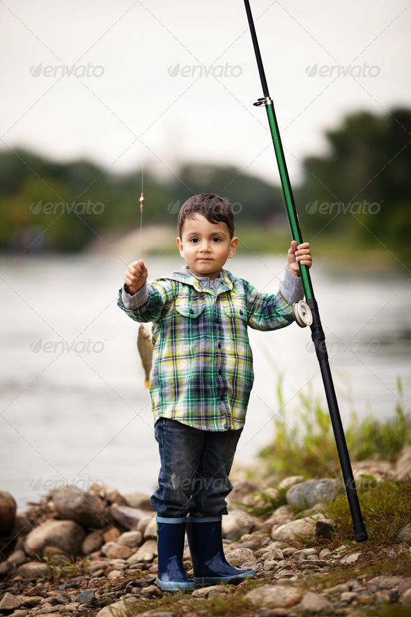PhotoDune photo of little boy fishing 3669173