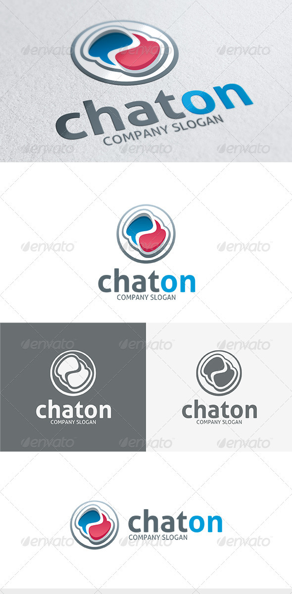 GraphicRiver Chat On Logo 3668447
