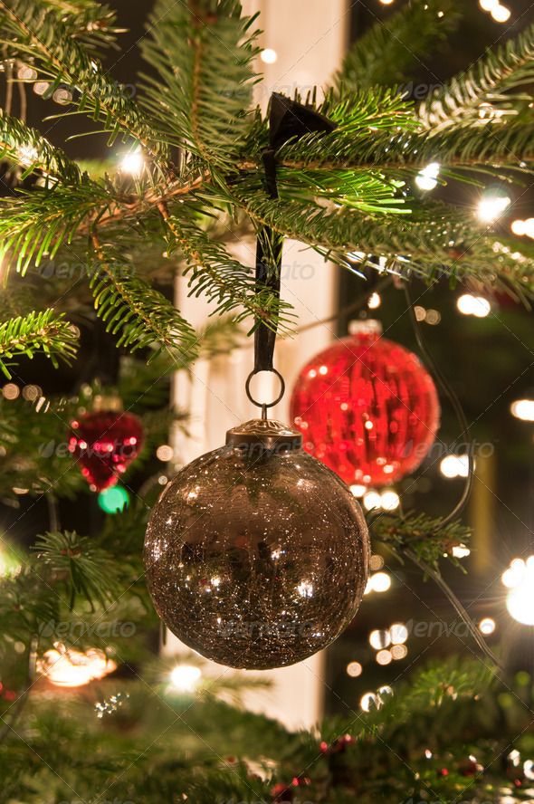PhotoDune Christmas Balls Hanging From Christmas Tree 3668865