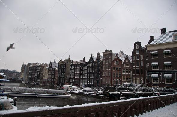 PhotoDune Amsterdam in snow 3668869
