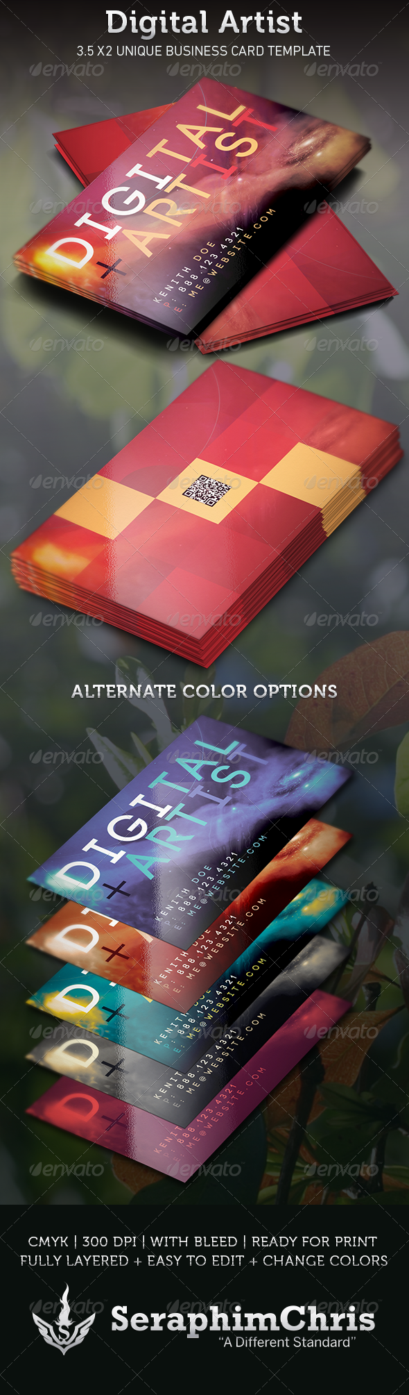GraphicRiver Digital Artist Business Card Template 3669084